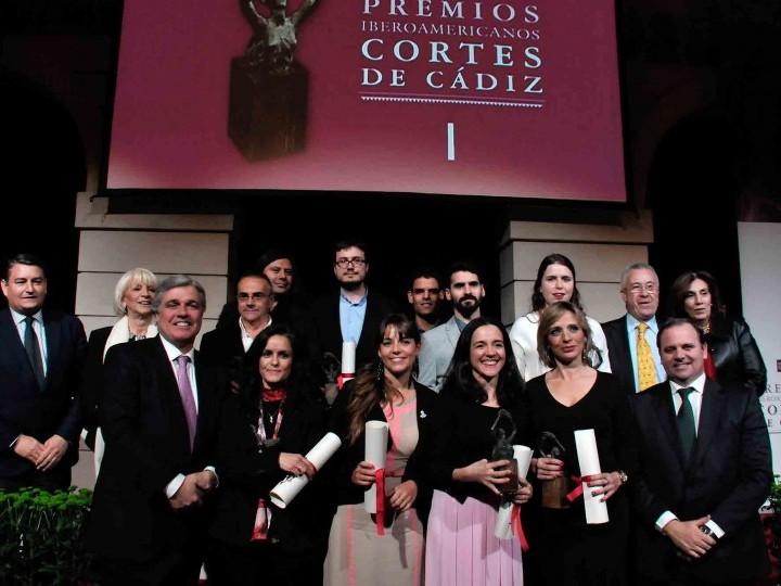 Los Premios Cortes de Cádiz 2015 reúnen talento y valía en la Casa de Iberoamérica