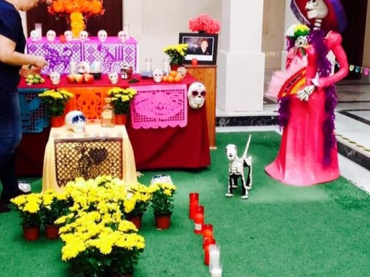 Los mexicanos celebran el Día de Muertos en la Casa de Iberoamérica