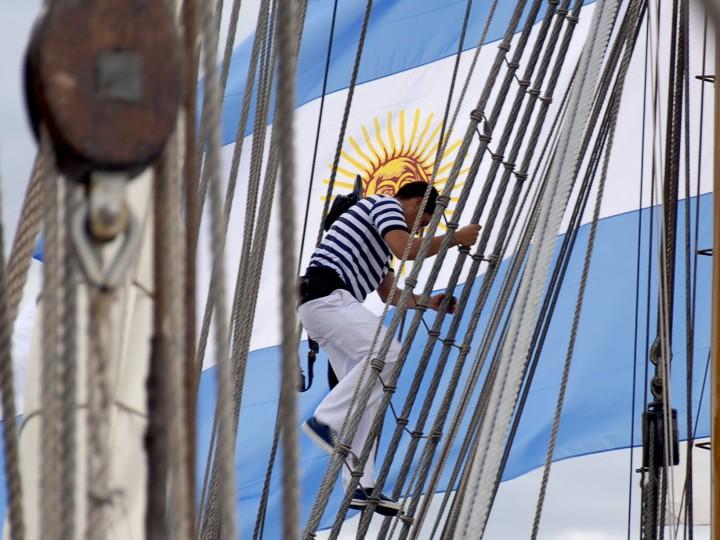 La Fragata Libertad de Argentina regresa a Cádiz
